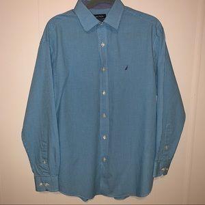 EUC Nautica Classic Fit Dress  Shirt Size 16 32/33